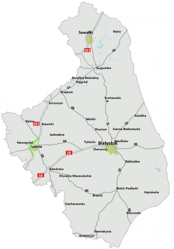 Powstaną kolejne odcinki trasy S61 Via Baltica