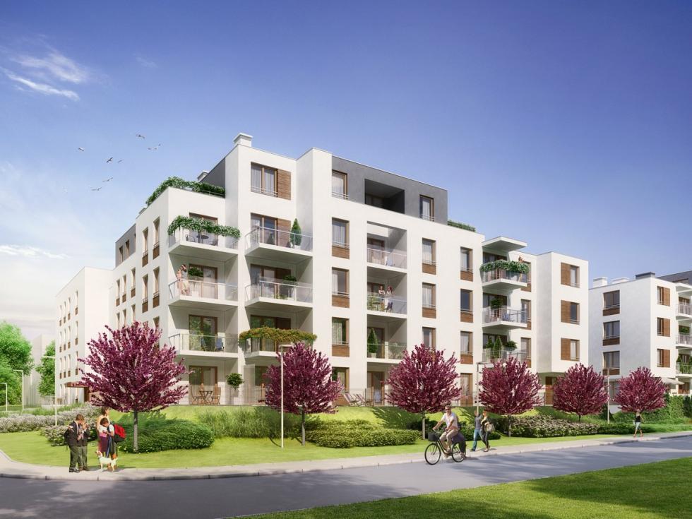 Dwa nowe budynki przy Parku Grabiszyńskim prawie gotowe
