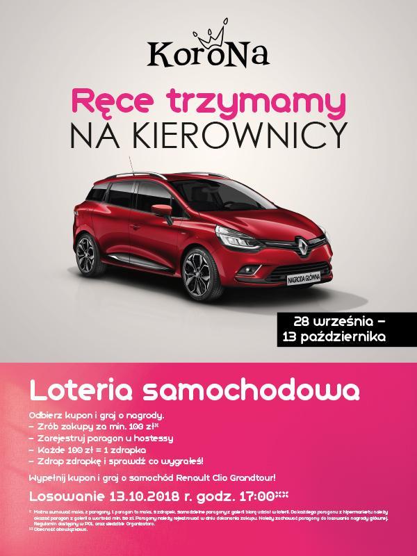 Zgarnij samochód Renault Clio Grandtour Kombi odCentrum Korona