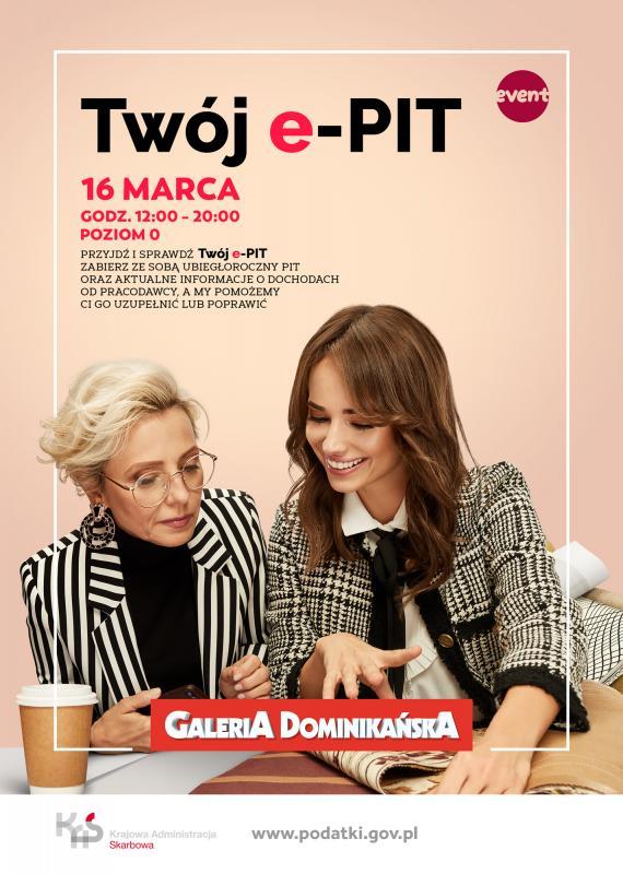 """""""Twój e-PIT"""" wGalerii Dominikańskiej – wyślij swój PIT przy okazji zakupów"""