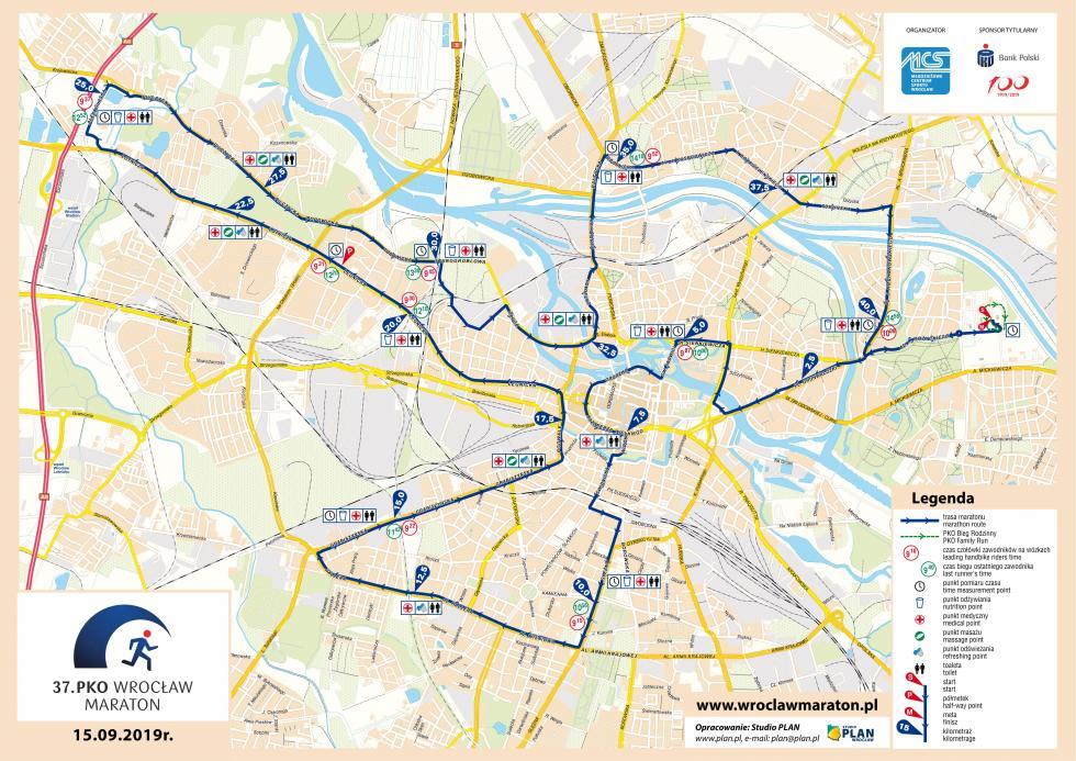37. PKO Wrocław Maraton – zmiany komunikacyjne