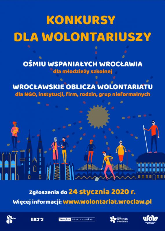 """Doceńmy społeczników – konkursy dla wolontariuszy: """"Ośmiu Wspaniałych"""" oraz """"Wrocławskie Oblicza Wolontariatu"""""""